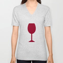 Wine Burgundy Unisex V-Neck