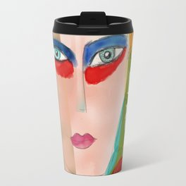 Pop Girl Albert Camus Words Travel Mug