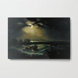 William Turner - Fishermen at Sea Metal Print