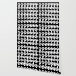 Circle design in black and white Number  9 Wallpaper