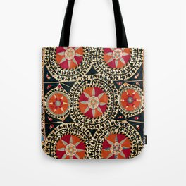Katti Kurgan Suzani Uzbekistan Embroidery Print Tote Bag