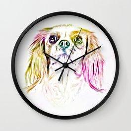 Cavalier King Charles Spaniel Dog Art Painting Wall Clock