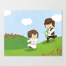 SW Kids - Han Chasing Leia Canvas Print