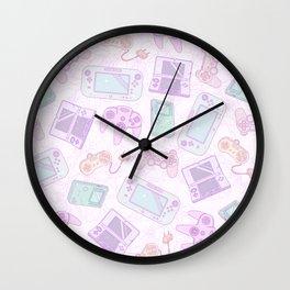 Gamer Girl Pattern Wall Clock