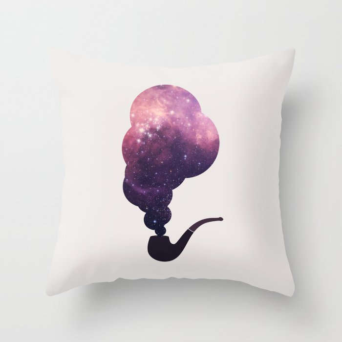 Birth of Stars Throw Pillow