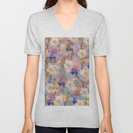 Abstract floral pattern 25 Unisex V-Neck