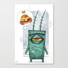Sheldon James Plankton Jr Canvas Print