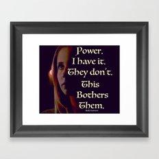 Buffy the Vampire Slayer Power Quote Framed Art Print
