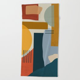 Shapes Beach Towel