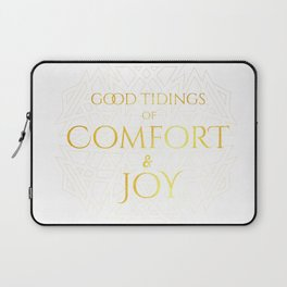 Comfort & Joy - Gold - Good Tidings Laptop Sleeve