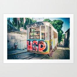 Portugal tram Art Print