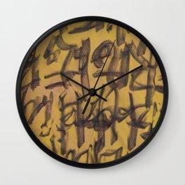 GLYPHS OF XANADU Wall Clock