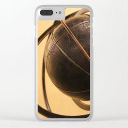 Vintage antique style steel globe Clear iPhone Case