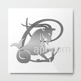 Capricorn the Goat - Zodiac Sign Metal Print