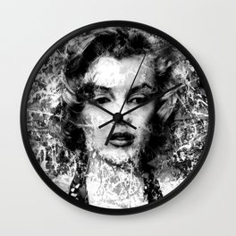 MONROE (BLACK & WHITE VERSION) Wall Clock