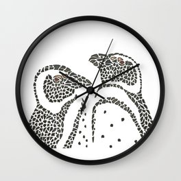 Vanishing Penguins by Black Dwarf Designs Wall Clock