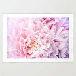 Peony Flower Photography, Pink Peony Floral Art Print Nursery Decor A happy life - Peonies 3 Art Print