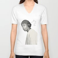 2pac V-neck T-shirts featuring BIG L / Put It On by Gold Blood