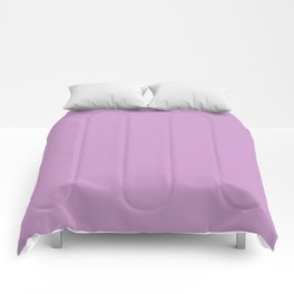 Chalky Pastel Violet Solid Color Comforters