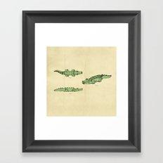 Lego Crocodile  Framed Art Print