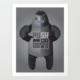 Push My Buttons Art Print