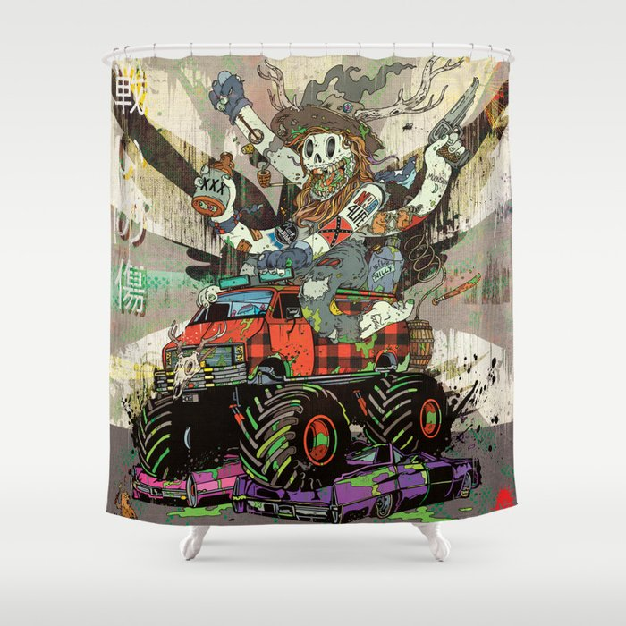 Battlescar Biggles Shower Curtain