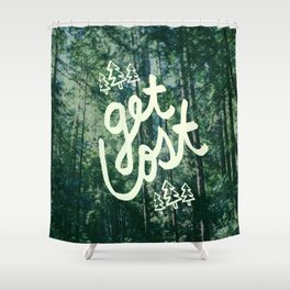 Get Lost x Muir Woods Shower Curtain