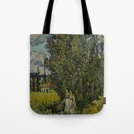 Cypresses and Two Women Tote Bag