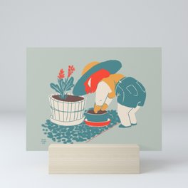 Fall Gardening Mini Art Print