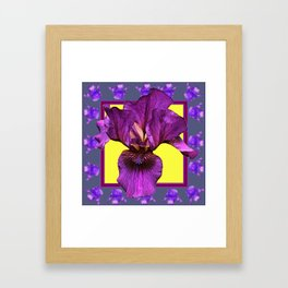 PURPLE IRIS  PATTERNS ART Framed Art Print