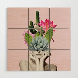 Cactus Lady Wood Wall Art