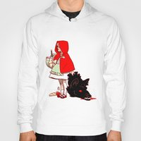 red hood Hoodies featuring Little Red Hood by Made of Tin