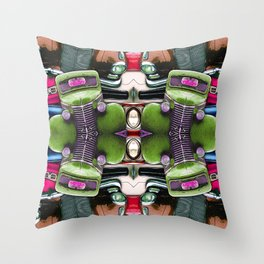 Abstract Auto Artwork Two Throw Pillow