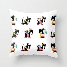 Scottie Beach Art Throw Pillow