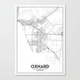 Minimal City Maps - Map Of Oxnard, California, United States Canvas Print