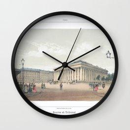 Paris art print Paris Decor office decoration vintage decor BOURSE et TRIBUNAL of Paris Wall Clock