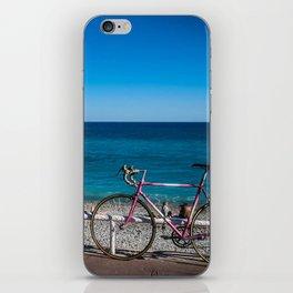 Beach and the bike - Nice, France summer iPhone Skin