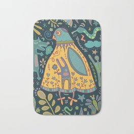 Chatty Yellow Bird Bath Mat