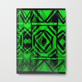 Ndebele green Metal Print