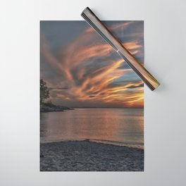 Sunset at the beach 0681 Wrapping Paper