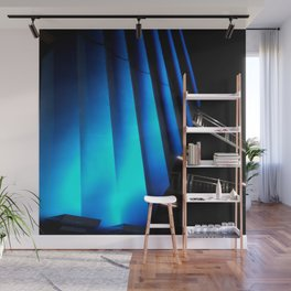 Exotic Blue Wall Mural
