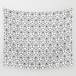Hand Drawn Hypercube Wall Tapestry