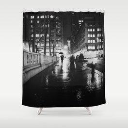 New York City Noir Shower Curtain