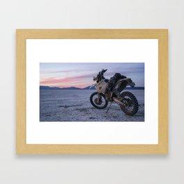 Alvord Sunset Dual Sport Framed Art Print