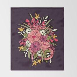 Jungle Bouquet 001 Throw Blanket