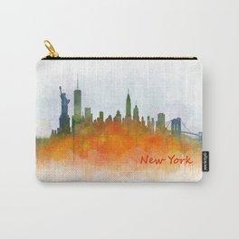 New York City Skyline Hq V03 Carry-All Pouch