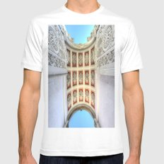 Dolmabahce Palace Istanbul Arch White Mens Fitted Tee MEDIUM