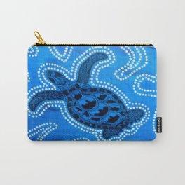 Aboriginal Art - Tortoise (Auowara) Carry-All Pouch