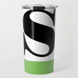 Monogram Letter S (color block) Travel Mug