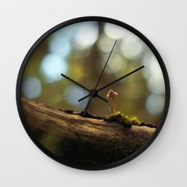 The Lonely Mushroom Wall Clock